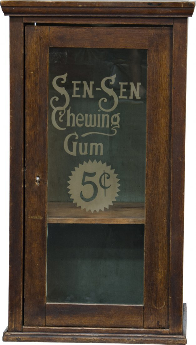 """857: Early """"SEN-SEN Chewing Gum"""" Wood & Etched Glass Co"""