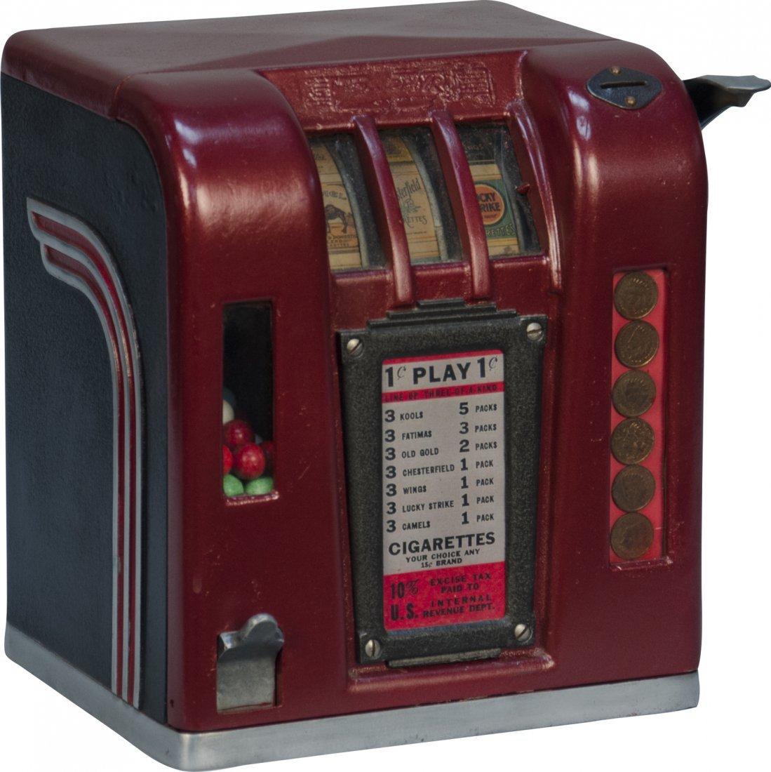 "857A: 1 Cent ""Zephyr"" Cigarette 3-Reel Trade Stimulator"