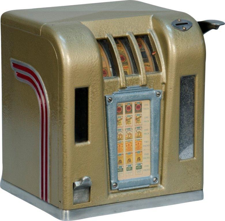 "857B: 1 Cent ""Zephyr"" Cigarette 3-Reel Trade Stimulator"
