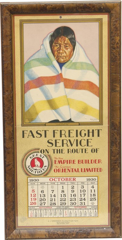 858: Vintage Great Northern R.R. Calendar