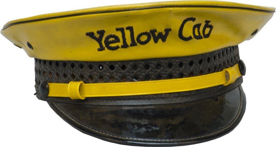"""862: Vintage """"Yellow Cab"""" Driver's Uniform Hat"""