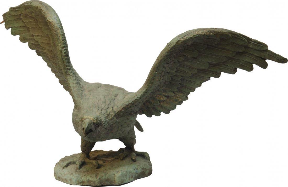 867: Early Paper Mache Figural American Eagle Statue