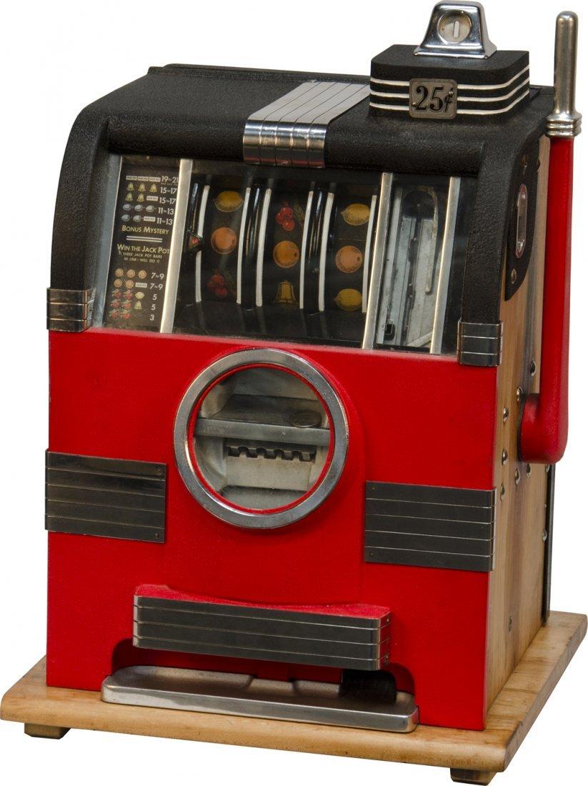 966: 25 Cent Caille Bros. Cadet Slot Machine c1936