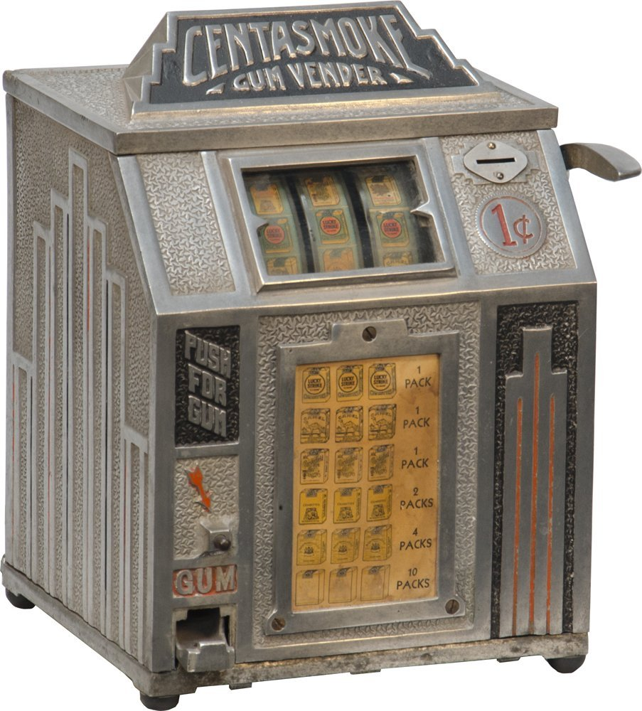 "978: 1 Cent ""CENTASMOKE"" Cigarette 3-Reel Trade Stimula"