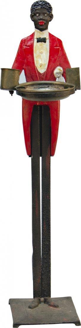 982: Vintage Cast-Iron Black Americana Figural Butler S