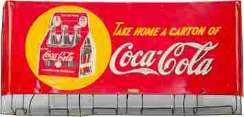 1052A CocaCola Carton Rack w Tin Curved Take Home a