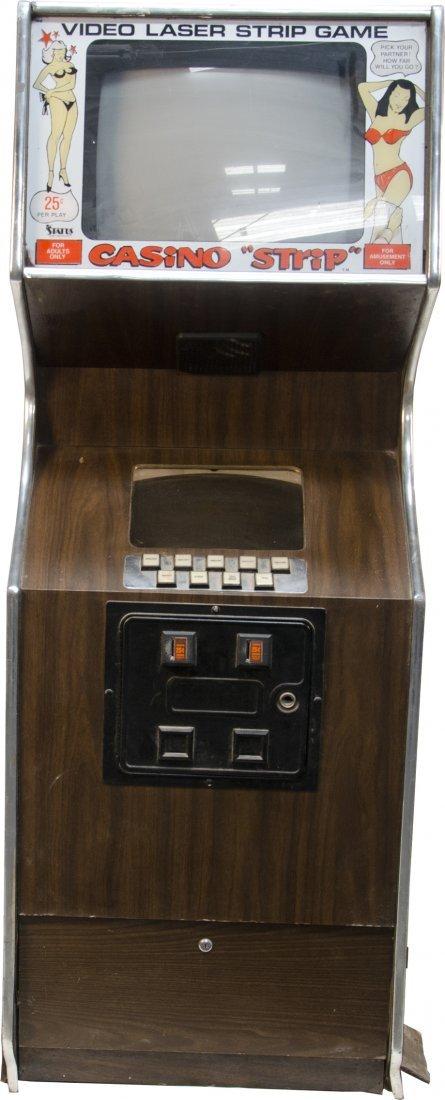 """1250: 25 Cent Casino """"STRIP"""" Video Laser Strip Game c19"""