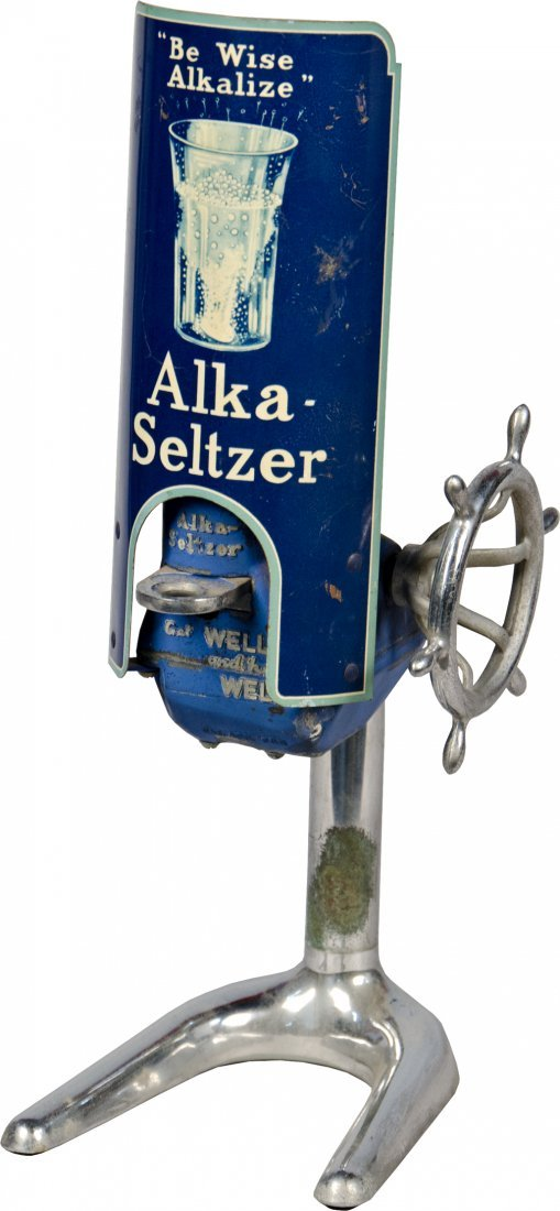 11: Vintage Alka-Seltzer Countertop Dispenser
