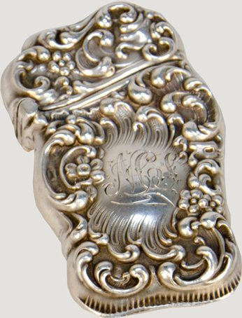 15: Fancy Embossed Unger Brothers Sterling Silver Victo