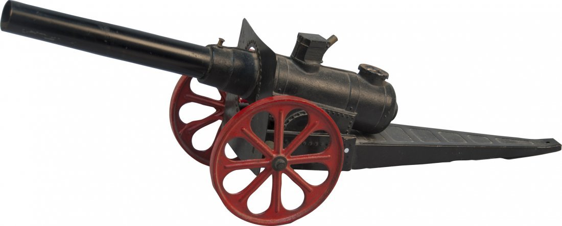 "23: Mini Cast-Iron Toy Cannon - 16"" barrel"