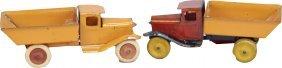 602: Lot of 2 Pressed Steel Wyandotte Toys
