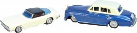 603: Lot Of 2 Vintage Tin Toy Automobiles: