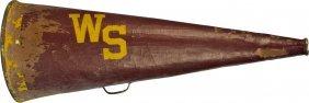 "606: Vintage Large ""WS"" Sports/Cheerleading Bullhorn w/"