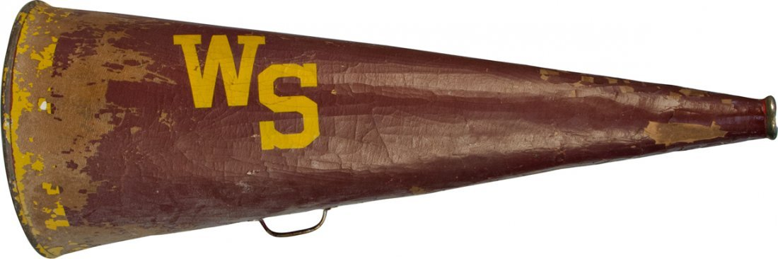 "606: Vintage Large ""WS"" Sports/Cheerleading Bullhorn w/"