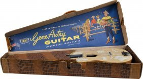 607: Lot of 2 Western Toy Guitars In Original Boxes: