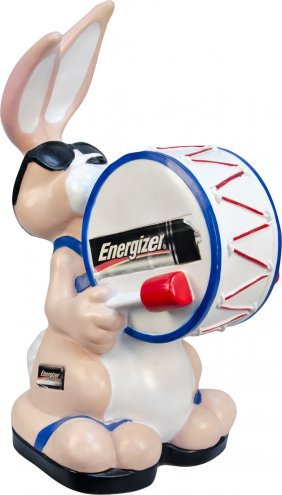 608: Energizer Batteries Bunny Plastic Figural Countert