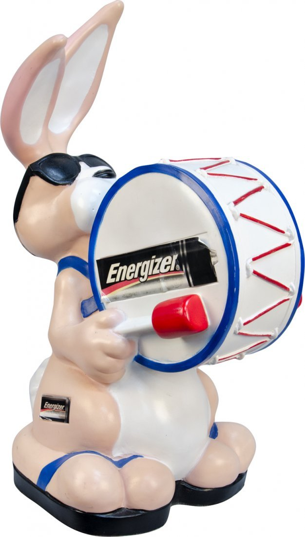 608: Energizer Batteries Bunny Plastic Figural Countert