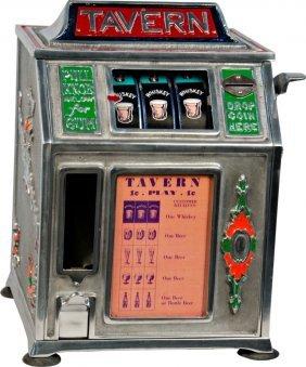 """610: 1 Cent Countertop Dandy Vender """"Tavern"""" 3-Reel Gum"""