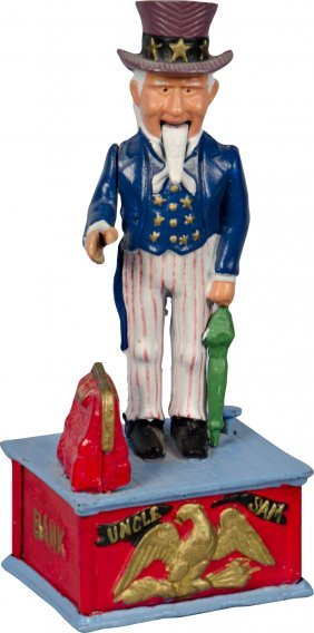 Uncle Sam Cast-Iron Figural Reproduction Hand-Pain