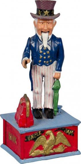 612: Uncle Sam Cast-Iron Figural Reproduction Hand-Pain