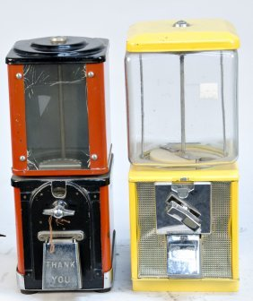 Lot Of 2 Coin-Operated Countertop Vending Machines