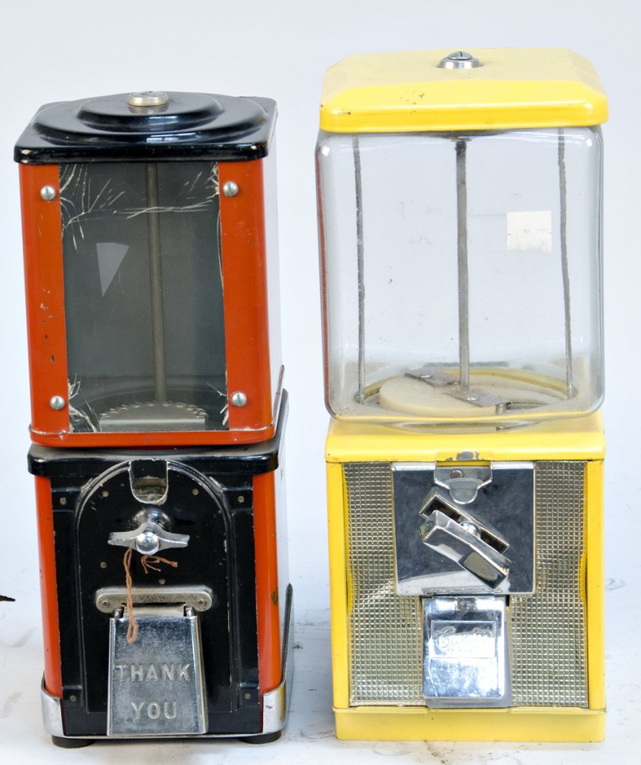 615: Lot of 2 Coin-Operated Countertop Vending Machines