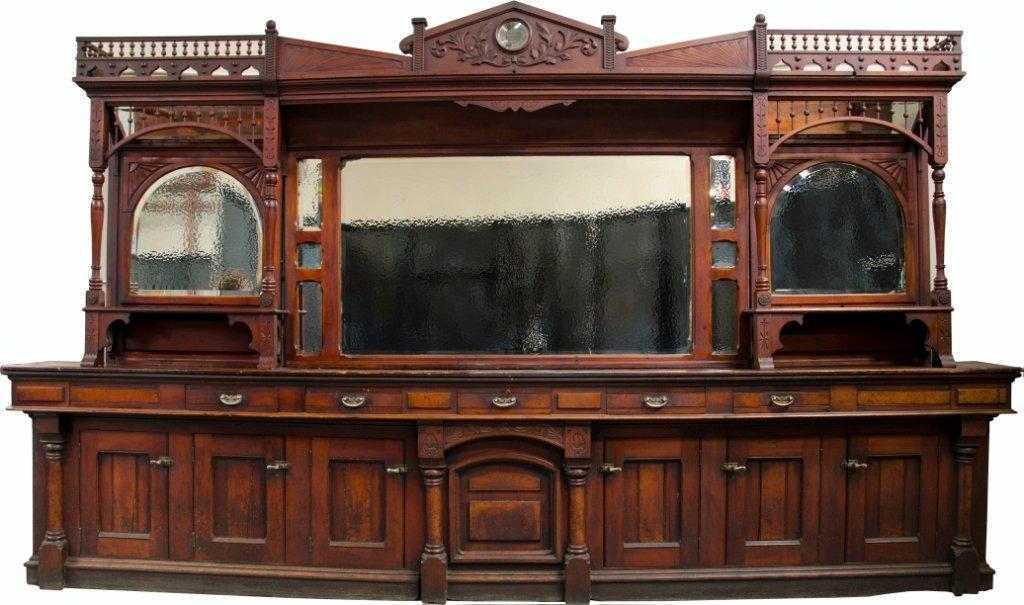 800: Antique Rothchild Cherry Wood Eastlake Style Saloo
