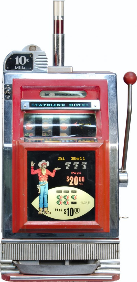 969: 10 Cent Mills Novelty Light-Up 21 Bell Red Front S