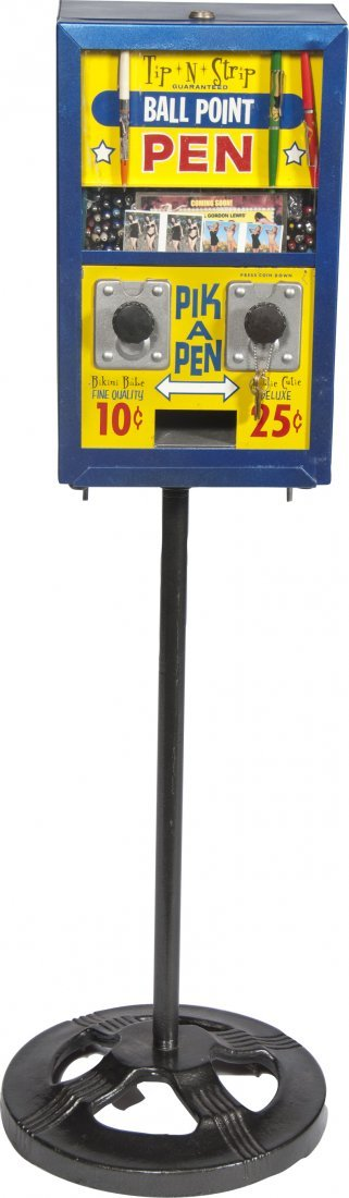 """970: 10 Cent And 25 Cent """"Tip-N-Strip"""" Double Vendor Gi"""