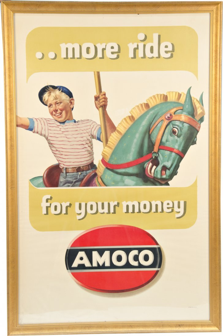 971: AMOCO Paper Lithograph Advertisement Sign