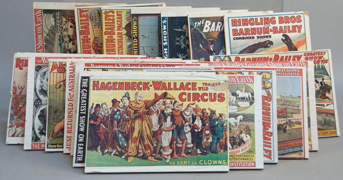 Lot Of Misc. Circus And Other Advertisement Posters Mou