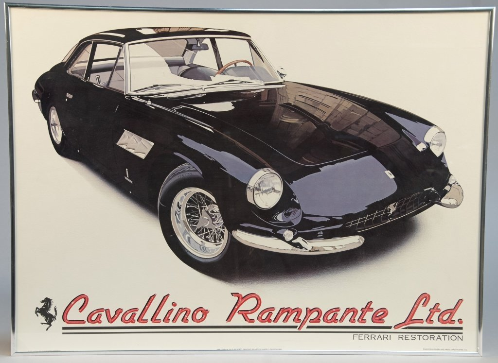 Cavallino Rampante Ltd. Ferrari Poster Print In Frame