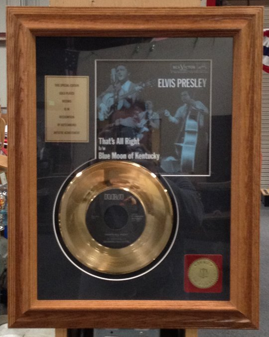 Elvis Presley Special Edition 24K Gold Plated Record An