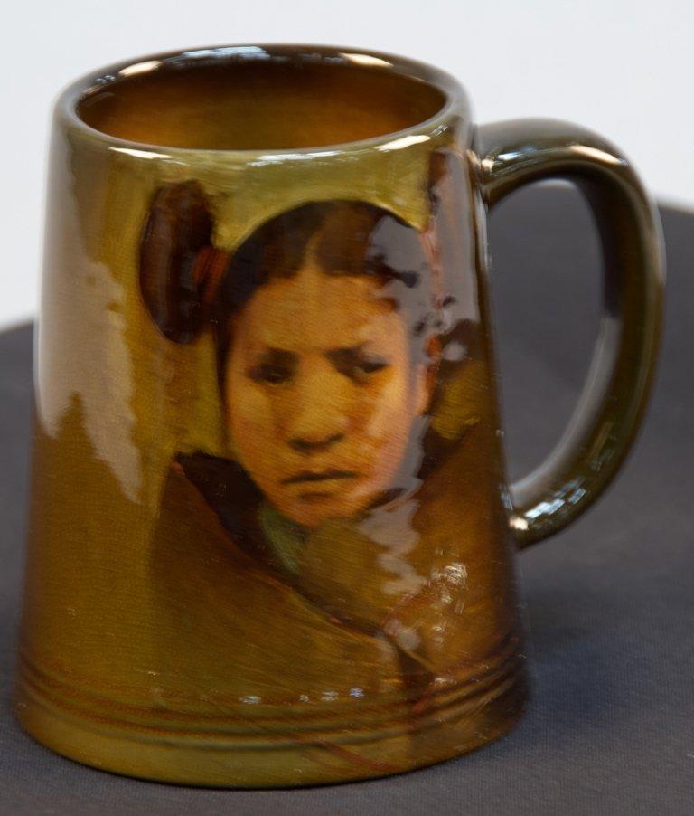 """""""Moki Girl"""" Indian Rookwood Ceramic Mug Shape 587C"""