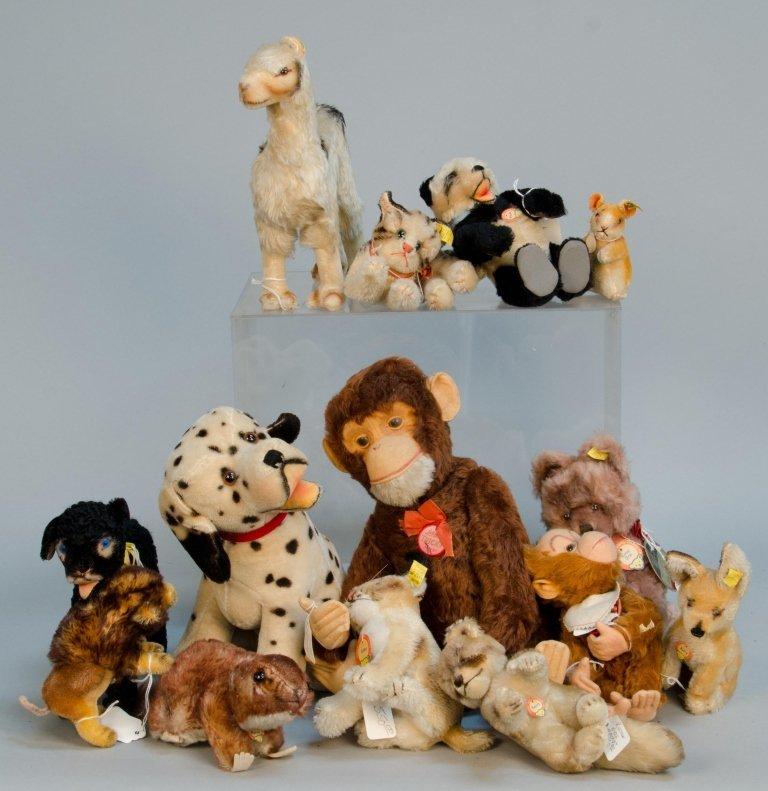 Lot Of Misc. Plush Toys/Stuffed Animals Steiff