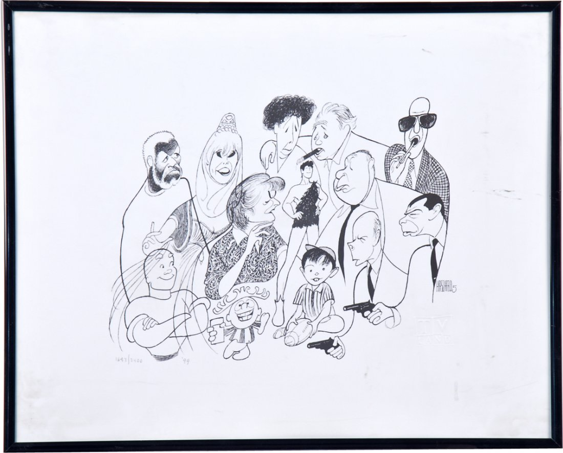 Hirschfeld TV Land Limited Edition Lithograph Print In