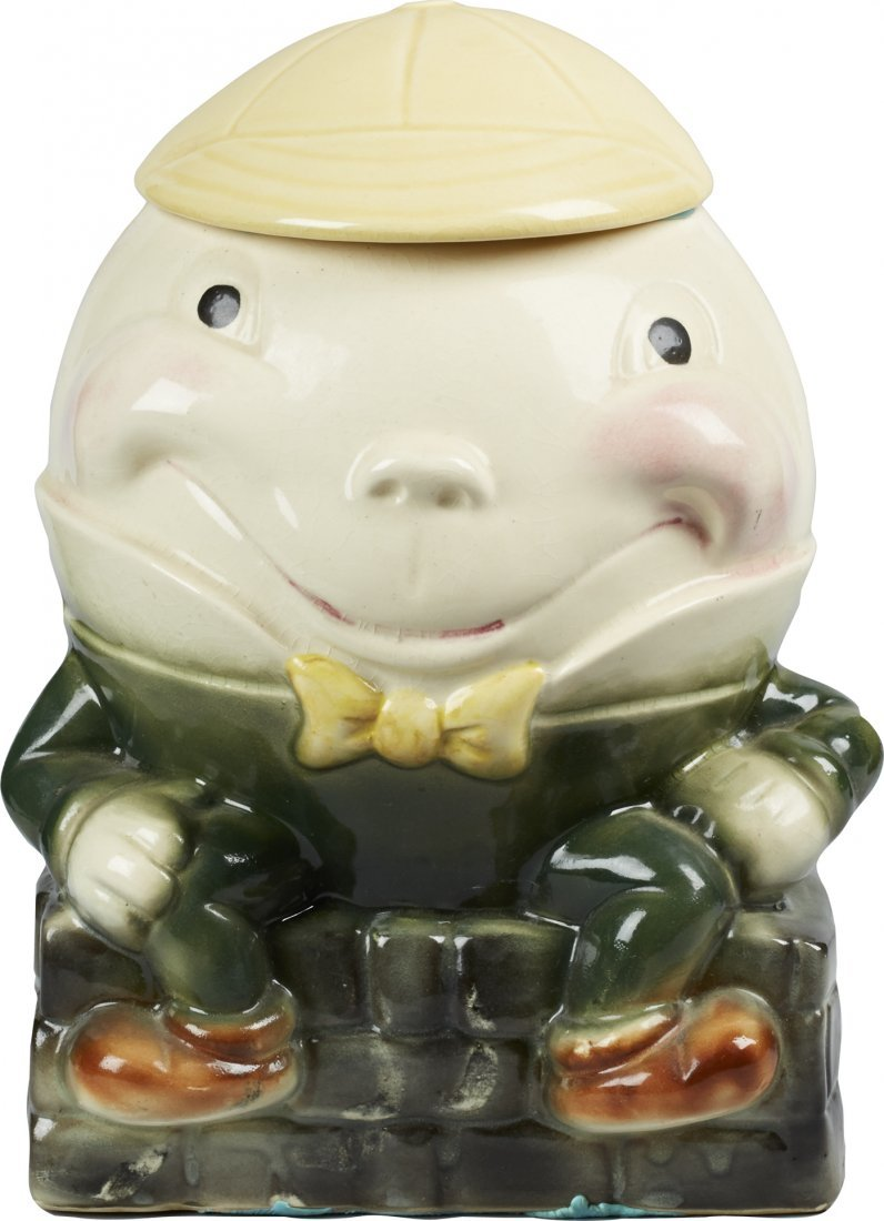 Brush Pottery Humpty Dumpty w/ Yellow Beanie Ceramic Co