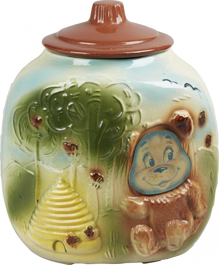 American Bisque Bear w/ Beehive Flasher Ceramic Corner