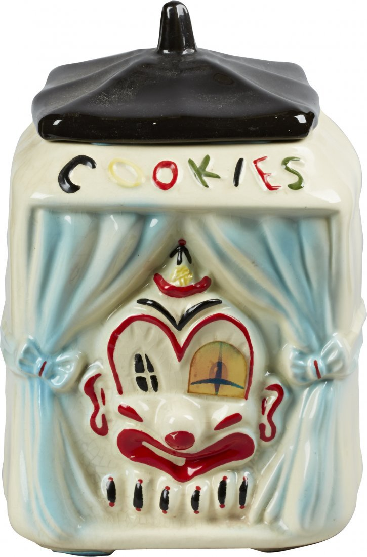 American Bisque Clown On Stage Flasher Ceramic Cookie J