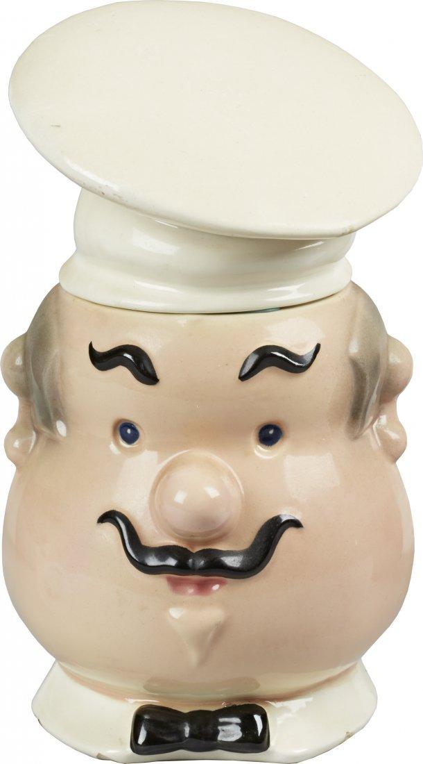 Metlox Pottery Jolly Chef Ceramic Cookie Jar