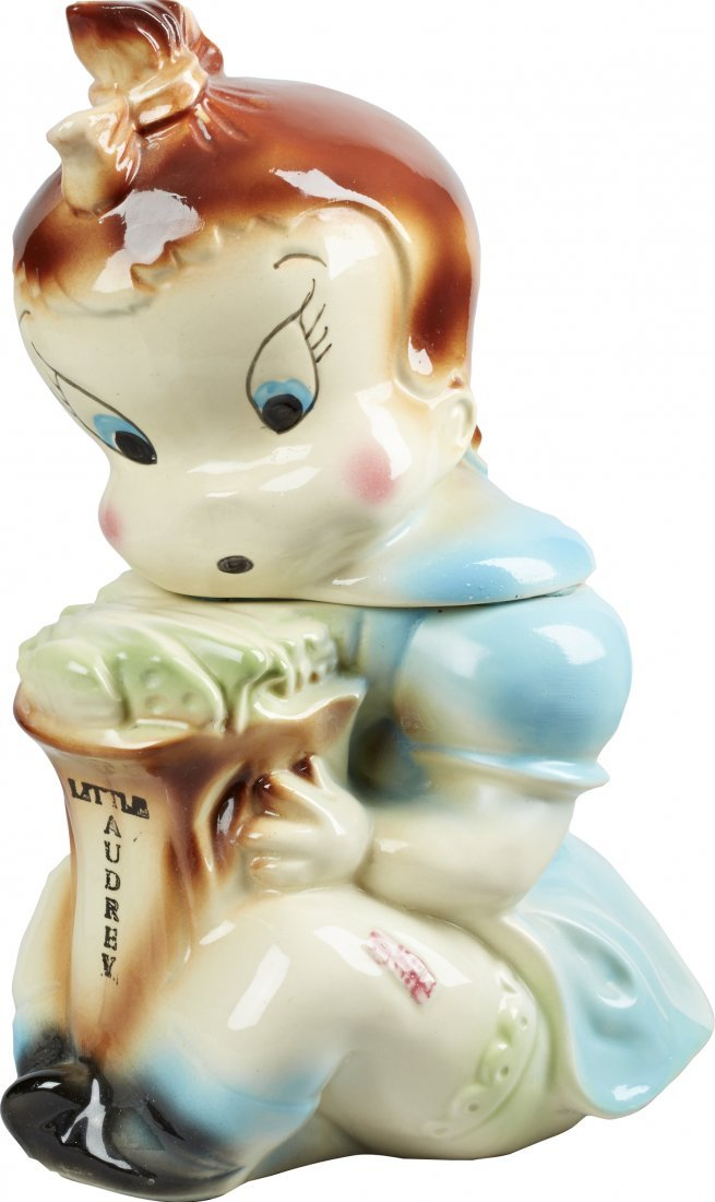American Bisque Little Audrey Ceramic Cookie Jar