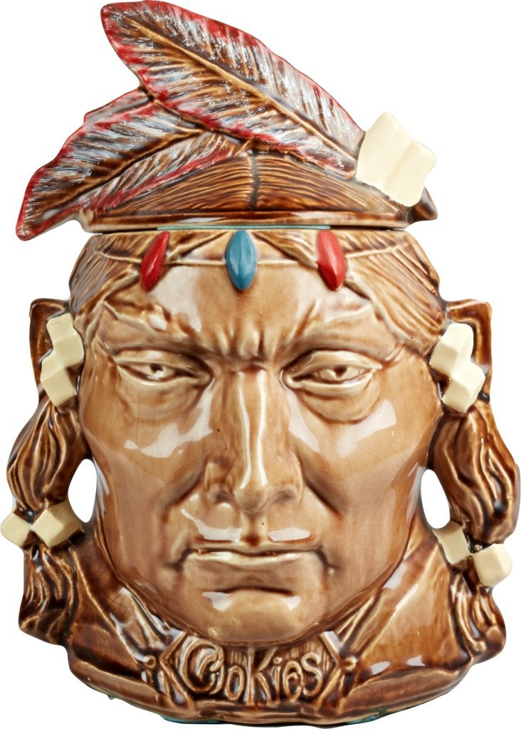 McCoy Pottery Indian Head Ceramic Cookie Jar