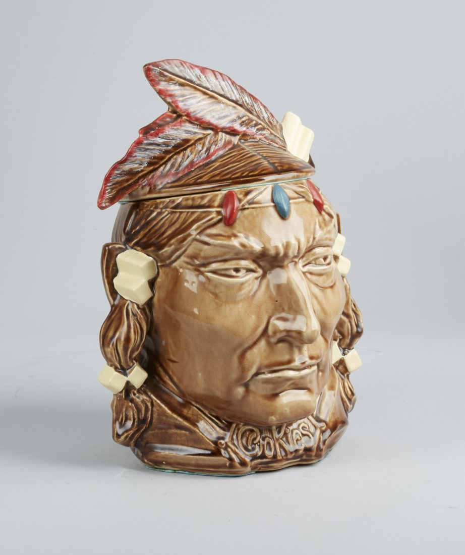McCoy Pottery Indian Head Ceramic Cookie Jar - 2