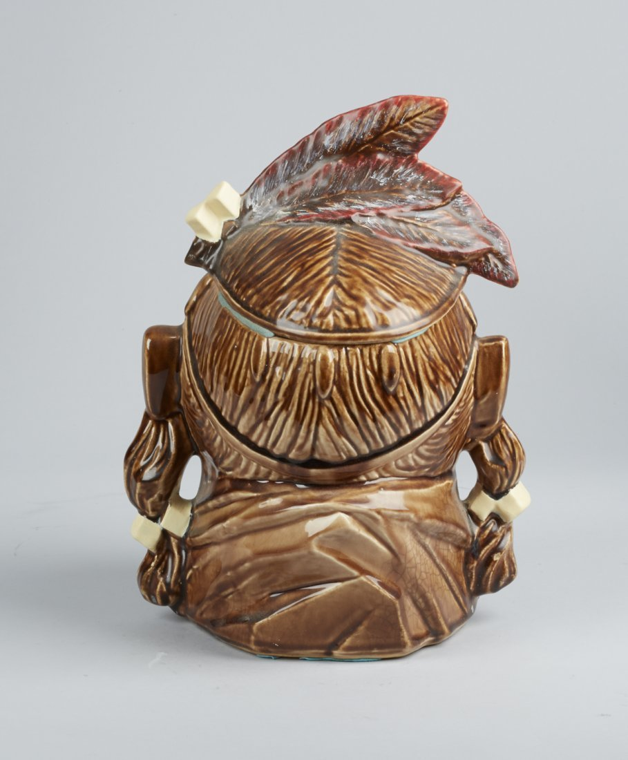 McCoy Pottery Indian Head Ceramic Cookie Jar - 3