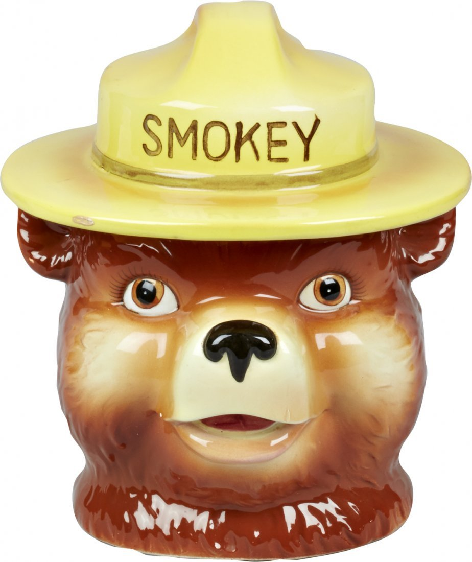 Norcrest Smokey The Bear Ceramic Cookie Jar