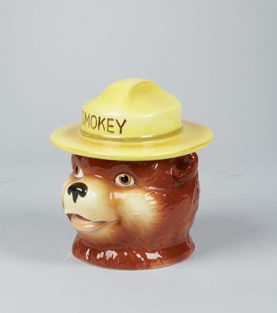 Norcrest Smokey The Bear Ceramic Cookie Jar - 2