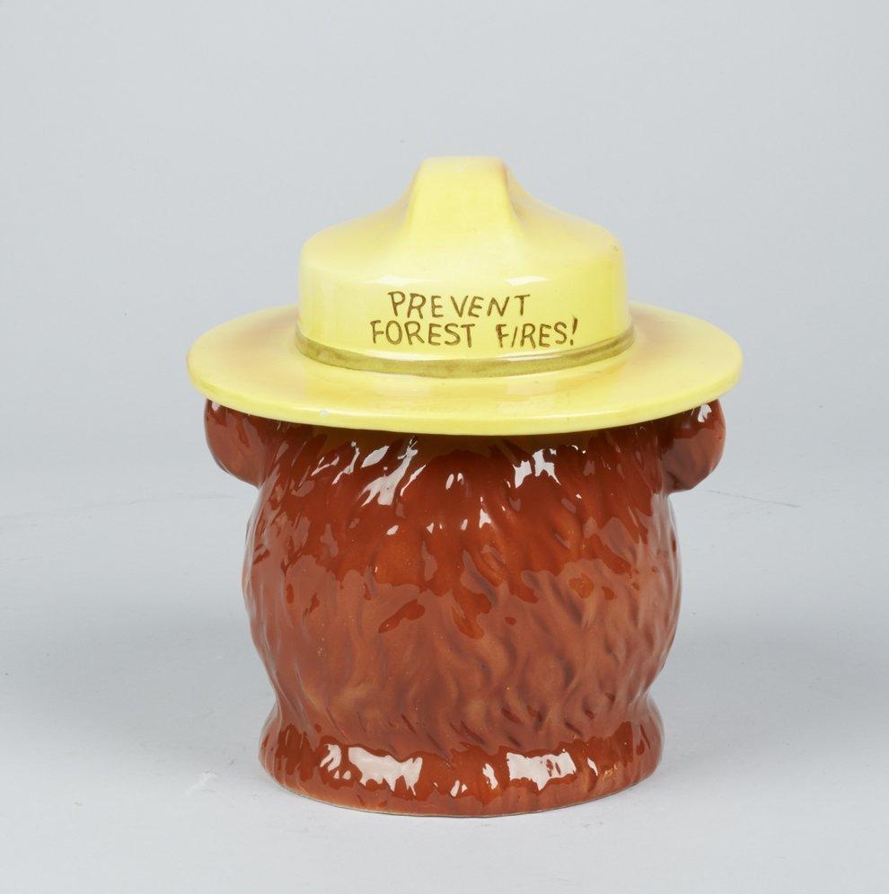 Norcrest Smokey The Bear Ceramic Cookie Jar - 3