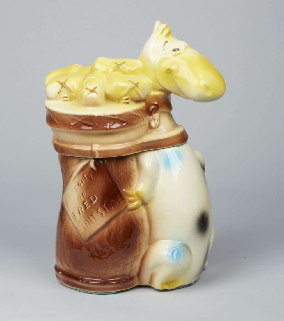 American Bisque Dino With Golf Clubs Ceramic Cookie Jar - 2