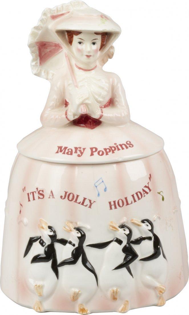 Walt Disney Productions Mary Poppins Ceramic Cookie Jar