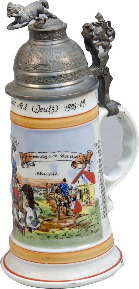 """Original Vintage German Beer Stein """"Reserve Hat Ruh"""" dr"""